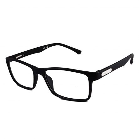 TR90 matte black rectangle extra large