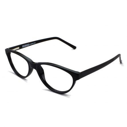 black sheet cat eye frame